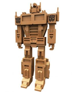 3D puzzle Robot model file cdr and dxf free vector download for Laser cut CNC
