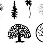 Tree Illustrations file cdr and dxf free vector download for printers or laser engraving machines