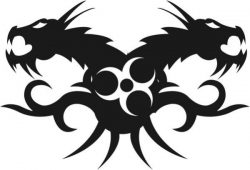 Two-headed monster file cdr and dxf free vector download for print or laser engraving machines