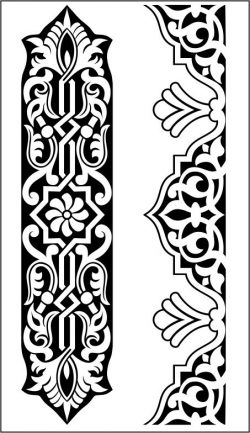 Unique MDF wood carving pattern file cdr and dxf free vector download for CNC cut