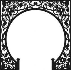 Unique pattern for the partition of the altar  file cdr and dxf free vector download for Laser cut CNC