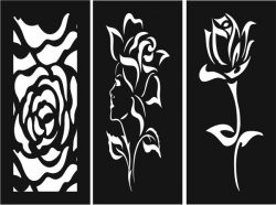 Unique roses baffle pattern file cdr and dxf free vector download for Laser cut CNC