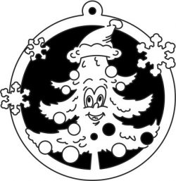 Christmas tree decoration ring file cdr and dxf free vector download for Laser cut Plasma file Decal