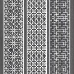 Vertical column pattern for money file cdr and dxf free vector download for Laser cut CNC