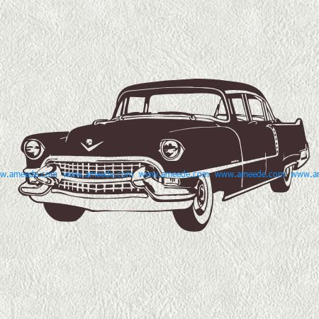 Very old car file cdr and dxf free vector download for print or laser engraving machines
