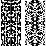 Vines partition file cdr and dxf free vector download for Laser cut CNC