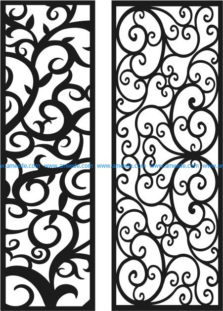 Vines pattern looks glitzy file cdr and dxf free vector download for Laser cut CNC