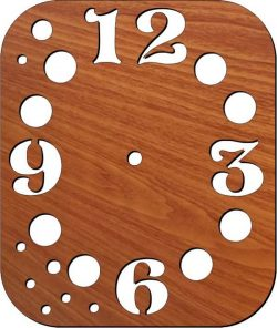 Wall clock with numbers and planets free vector download for Laser cut plasma