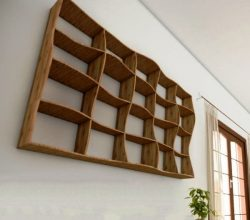 Wall shelf file cdr and dxf free vector download for cut CNC