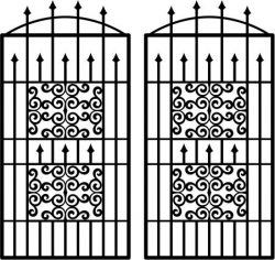 Wavy iron door pattern file cdr and dxf free vector download for Laser cut plasma