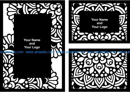 Wedding Card File Cdr And Dxf Free Vector Download For Laser