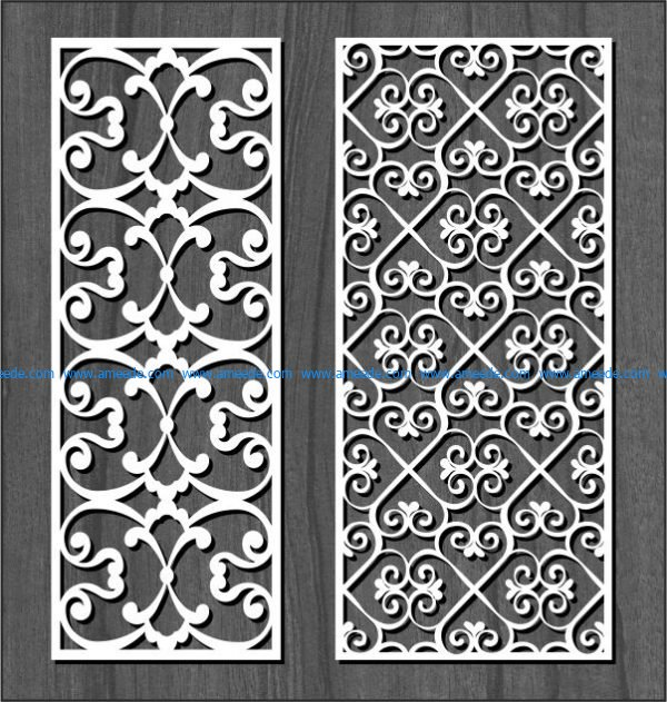 White spiral pattern file cdr and dxf free vector download for Laser cut CNC
