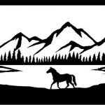 Wild horses in the forest file cdr and dxf free vector download for Laser cut plasma