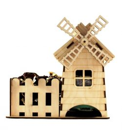 Windmill holds candy file cdr and dxf free vector download for Laser cut CNC