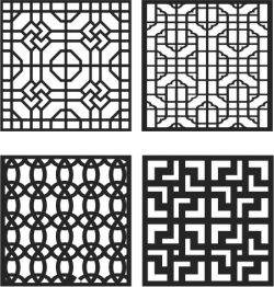 Window Divider Design file cdr and dxf free vector download for Laser cut CNC