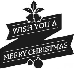 Wish you are merry christmas banner file cdr and dxf free vector download for print or laser engraving machines