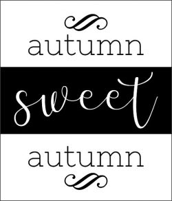 Wood Block Autumn Sweet file cdr and dxf free vector download for printers or laser engraving machines