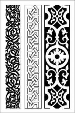Wood carving texture details  file cdr and dxf free vector download for CNC cut