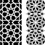 Wood floral geometric motifs   file cdr and dxf free vector download for CNC cut