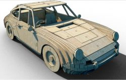 Wooden Car 3D file cdr and dxf free vector download for Laser cut CNC