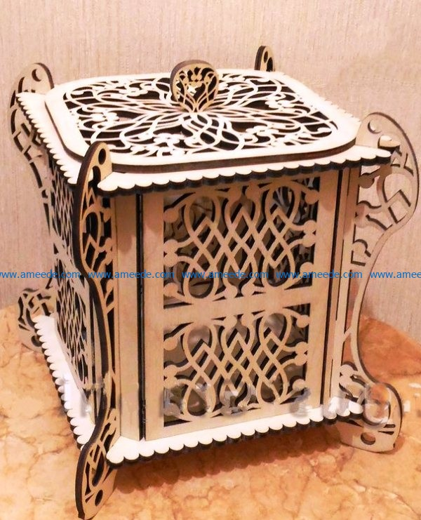 Wooden Casket file cdr and dxf free vector download for Laser cut