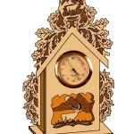 Wooden Clock file cdr and dxf free vector download for Laser
