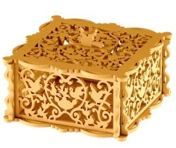 Wooden box with bird file cdr and dxf free vector download for Laser cut CNCmotifs
