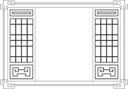 Wooden cabinet front pattern file cdr and dxf free vector download for Laser cut CNC