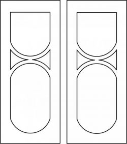Wooden door design file cdr and dxf free vector download for CNC cut