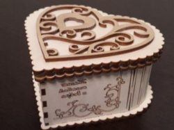 Wooden heart box file cdr and dxf free vector download for Laser cut CNC