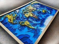 World map model design free vector download for Laser cut CNC