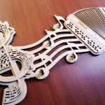 key hangs shaped like music notes file cdr and dxf free vector download for Laser cut CNC