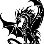 ancient dragon file cdr and dxf free vector download for printers or laser engraving machines