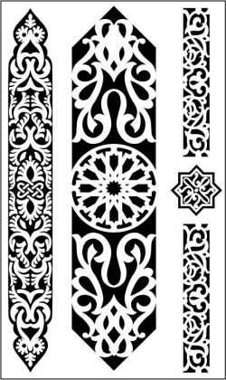 arabic pattern file cdr and dxf free vector download for CNC cut