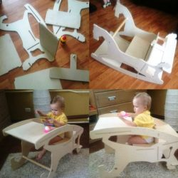 assembling a toddler's feeding chair file cdr and dxf free vector download for Laser cut CNC