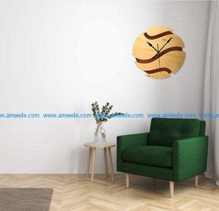 basketball-shaped wall clock file cdr and dxf free vector download for Laser cut CNC