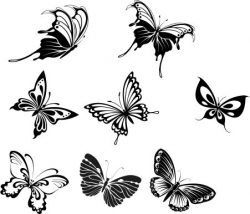 beautiful butterflies file cdr and dxf free vector download for printers or laser engraving machines