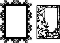 beautiful mirror model file cdr and dxf free vector download for CNC cut