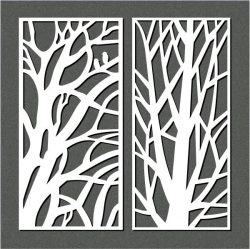 big branches file cdr and dxf free vector download for Laser cut CNC