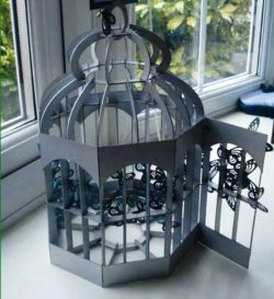 bird cage file cdr and dxf free vector download for Laser cut CNC