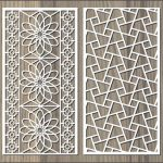 broken glass pattern wall flower pattern file cdr and dxf free vector download for Laser cut CNC