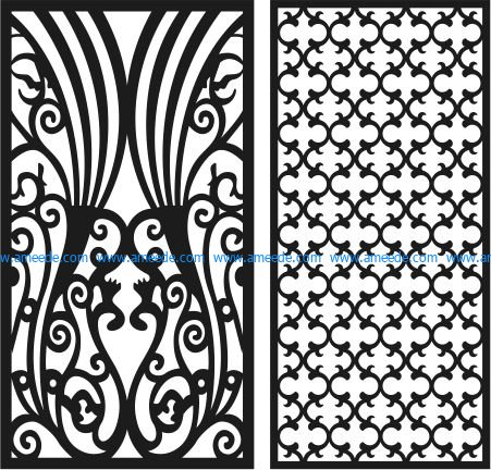 bulkhead two peacocks file cdr and dxf free vector download for Laser cut CNC