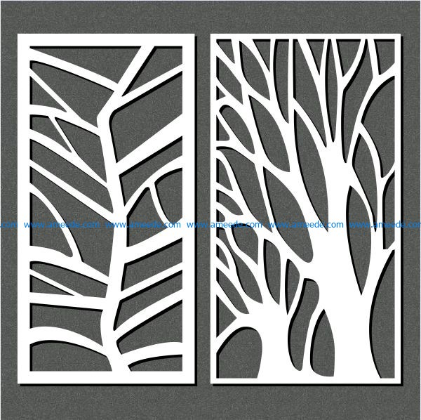 butterfly shaped tree free vector download for Laser cut CNC