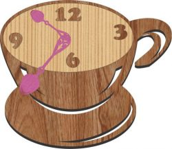 cafe clock free vector download for Laser cut Plasma