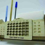 calendar view box and pens file cdr and dxf free vector download for Laser cut CNC