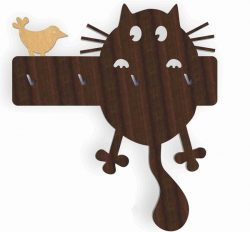 cat hangers hanging file cdr and dxf free vector download for Laser cut CNC