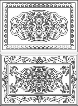 celtic decorative frame  file cdr and dxf free vector download for Laser cut CNC