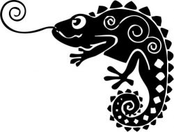 chameleon file cdr and dxf free vector download for print or laser engraving machines