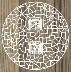 chinese round door vents file cdr and dxf free vector download for Laser cut CNC