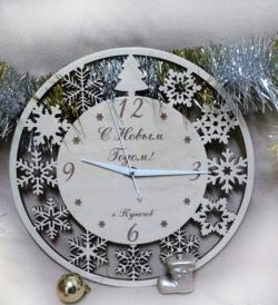 christmas wall clock free vector download for Laser cut CNC